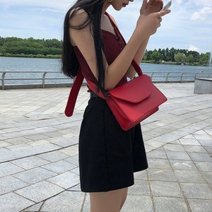 Designer-High Quality Pu Leather Small Square Bags For Ladies Simple Solid Color Crossbody Bag For Female Minimalist Wind Shoulder Bag