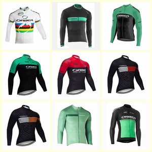 2019 ORBEA Team Cycling Housses à manches longues Jersey Mens Maillot Ropa Ciclismo Vêtements Vêtements Mountaion Vélo Chemises U91118