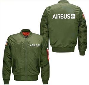 2020 новый черный синий и зеленый человек пилот пилот куртка Airbus дизайн высокого качества человек пальто куртки весна осень зима одежда T200117