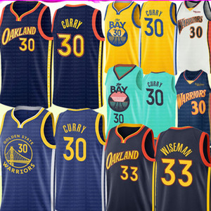 NCAA Stephen 30 curry douradoEstadoGuerreirosJersey James 33 Wiseman Jersey Men's Youth Kids Curry Basketball Jerseys Bordado
