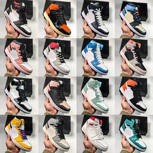 Hommes 1 Chaussures de basketball Turbo Green Tiffany High Og 1s Femmes Femmes Bred Bred Bred Chicago Black Toe Court Pine Pine Pince-Neck Premium Sahdow Obsidienne Sneakers