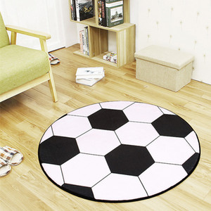 Anti-slip Polyester Ball Round Carpet Computer Chair Pad Football Basketball Living Room Mat Children Bedroom Rugs Bedroom 200925