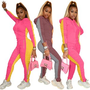 womens sportswear long sleeve shirt fashional 2 piece set outfits jacket pants tracksuit bodycon sportsuit hot klw5729