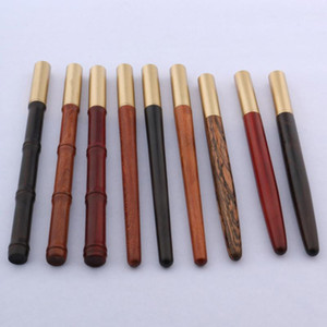 Luxusqualität 017 Kupfer Holz Rollerball Pen Signature 0.7mm Gold Stift Spinning Ball Point Tinte Schreibwaren Bürobedarf1