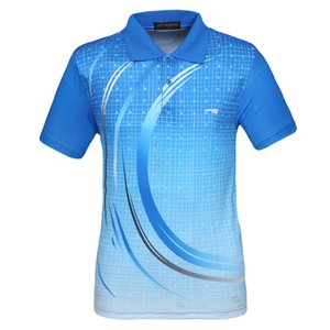 Men Table Tennis Jersey Sport Polo Shirts Wicking Training Clothing Male Tennis Badminton T Shirt Q1201