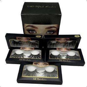 6D Mink 25mm lashes 100% Volume Crisscross Long Hair 3D 25 mm False Eyelashes Eye lashes Fake EyeLashes Makeup Eyelash Extension Tools