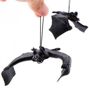 Novo que vem engraçado truque de Halloween adereços divertidos de borracha de borracha paredes de morcego pendurado Halloween Masquerade partido decoração