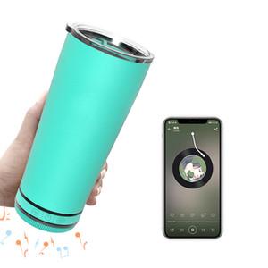 500 ml Stay Stay Hydraté et profiter de musique Tumbler Blue Tooth Haut-parleur d'eau bouteille en acier inoxydable Flacon Smart Thermos