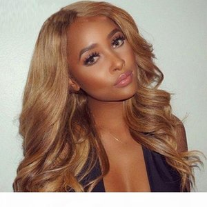 Body Wave Blonde wigs with 100% human hair european hair full lace wig strawberry blonde color front lace wigs