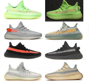 Free shipping Kanye West Static Running Shoes New Israfil Cinder Desert Sage Earth Tail Light Zebra Womens Mens Trainers Sneakers Size 13