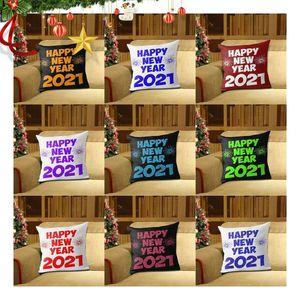 Pillow-Case Christmas Theme Decorations Piiiowcase Home Bed Sofa Car Cotton Linen Throw Pillow Covers Cushion Cover 45X45CM Pillow Case
