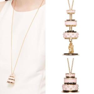 Juicy Grape Lovers Cake Pendant Long Chain Choker Necklace Fashion Jewelry Bijoux Femme Bijuteria Gifts For Women Gilded Chain