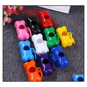 Garbage Clean Storage Box Pet Dog Bags Plastic Bone Type Degradable Pick Up Waste Poop Bag Doggy Scoopers Garbage Box T1I433 Pnew0