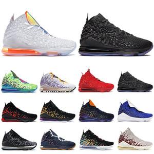 Nuevos lebron 17 zapatos para hombre de baloncesto, blanco, rojo, morado Universidad Futuro hombres de la Marina entrenador transpirable zapatillas deportivas de atletismo
