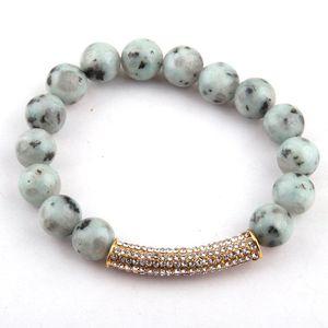Free Shipping New Design Fashion Beautiful 10mm Stones Bead Crystal Bracelets