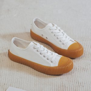 2020 summer new Korean version of the trend of classic canvas shoes, retro casual shoes lace up tide wild