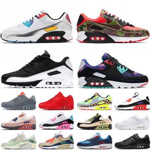 zapatos 90 max 90 off white zapatillas de correr para mujer OG volt green camo essential red bright violet be true zapatillas de deporte para hombre