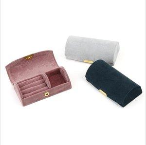 Schmuckhülle Ring Aufbewahrungsboxen Bogen Gesicht Antragsteller Venen Aufbewahrungskoffer Reisen Tragbare Box Organizer Schmuckhalter Geschenkbox Meer GWB4353