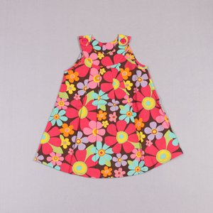 Clearance sale Girls Cute Flower Dresses Children Clothing Wear Pleated Dress Fashion Red Dresses Kids Summer Dress Z249