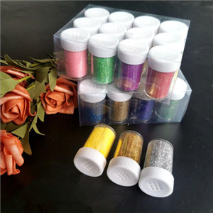 20G Mixed 24 Color Powder Shimmer Glitter Diamond Painting for Decoration DIY Nail Temporary Tattoo Fake Kids Face Body Art Tool