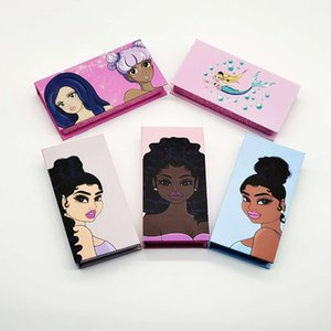 Girl Print Eyelash Packaging Box Fluffy 25mm Mink Flase Eyelashes Custom Lash Wood Packaging with Tray Rectangle Case