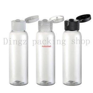 50pcs 60ml transparent round shoulder flip top perfume oils bottle wholesale suppliers lotion bottlegood quality