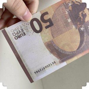 2020 Enfants Euro Jeux Banknote US Money 50 Famille Jouet 035 Jouer au papier ou Copier Prop pour la collection réaliste 100pcs / pack ILWTR