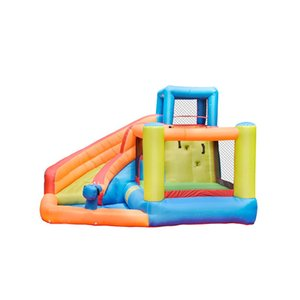 Inflatable Slide Water Park Combo Bounce House for Kids Garden Supplie Outdoor Party with Air Blower Commercial Family Use Pool Pit Splash Spray Summer