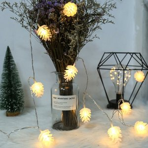 LED Pine Cone Light String Battery Style Small Lanterns New Year Christmas Lighting INS String Lights Holiday Party Decoration Lights