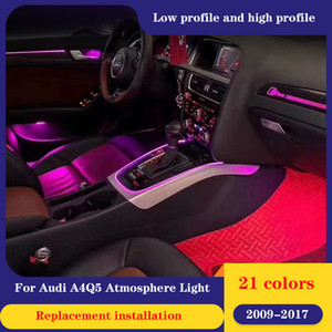 21color LED ambient light For Audi A4 Q5 2009~2017 ambient lamp lights for A4 Q5 carbon fiber mahogany interior atmosphere light