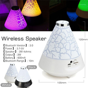 Cute White Colorful LED Light Portable Stereo bluetooth Wireless Music Speaker mp3 stereo audio music player1