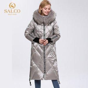 Salco Envío gratis El último abrigo de piel de invierno de invierno de invierno de algodón de perlas de granja grande 201255