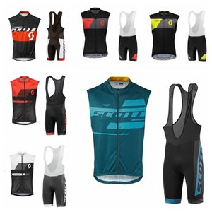 SCOTT team Cycling Short Sleeves jersey bib shorts sets Hot Cycling Suit Wear Summer Style Jersey Comfortable Fashion H70620