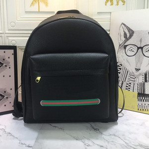 Backpack Handbag Women Shoulder Bags Fashion Hardware Patchwork Color Zipper Interior Zipper Genuine Leather Letter Pattern Free Shipping
