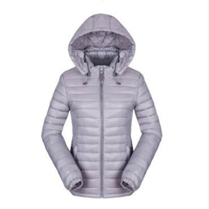 Wholesale new style winter women's light and thin short slim hooded small padded jacket