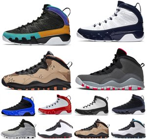 Weiße Melo Leichtathletik Sport Brack Black Sneakers Gym mit OG Shoes Navy Mens Seattle 10s Freiflügel Trainer 9s Basketball Space 2020 Melo A