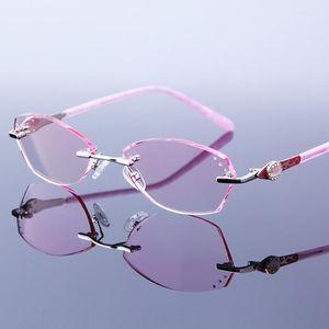Солнцезащитные очки Элегантные Женщины Очки для чтения Очки для чтения RIMLEL RIMORTONE Розовые очки Heeglasses Hyperophia безраспеченные для чтения Оптические пресбыопические очки для глаз1