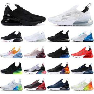 max 270 Con los zapatos para los hombres de las mujeres de la vuelta de Futuro EE.UU. soldadura Triple Negro Blanco Naranja voltios corriendo calcetines para hombre d