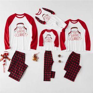 2021 Nouvelle famille de Noël Association Pyjamas Set Santa's Deer Sleepwear pour les garçons et les filles de la famille