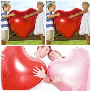 36inch Heart Heart Balloon Folha de Alumínio Amor Coração Sólido Cor Balão Decorações De Casamento Decorações Dia Dos Valentim Decoração GWD4243
