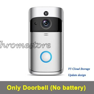 Without any logo V5 doorbell Home Video Wireless 720P HD Wifi Real-Time Video Two Way Audio Night Vision door bell with APP control