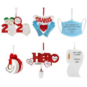 Quarantine Survivor Personalized Survived Family Ornament 2020 Christmas Holiday Decorations Y1126