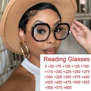 Anti-Blue Light Polygone Round Reading Lunettes Femmes 2021 Mode Design Lunettes Cadre de lunettes de femme transparent