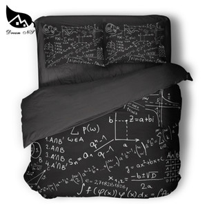Dream NS Equation Design Mathematics Equações Bedding Black Gekk Sci-Fi Colcha Capa Fronha Personalizado Home Têxteis LJ201223