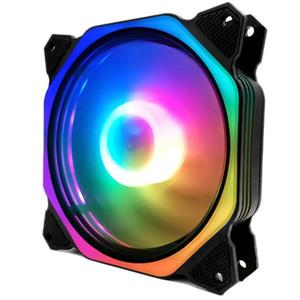 Computer-PC RGB-Farbwechselsymphonie-LED-Licht-Fans-LED-Computerkühler-Kühllüfter (bunt nach innen und außen