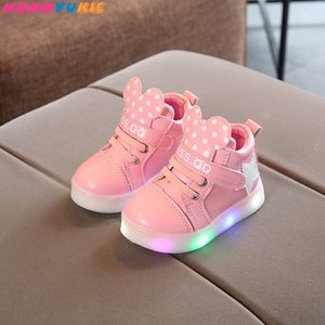 kids Led glowing Sneakers Children hook loop Fashion luminous shoes for girls boys men women skate shoe girl boy childrens Z1127