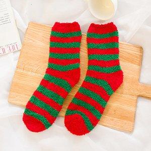 2020 Adultos Navidad Calcetines de vacaciones invierno acogedor calcetín mullido calcetón de terciopelo cálido calcetín suave ship ship sock calcetín antideslizante piso de piso HWF3261