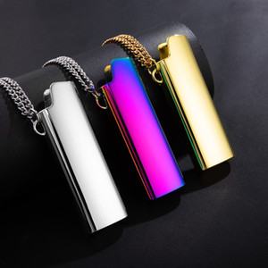 Colorful Necklace Pendant Holster Lighter Shell Sleeve Protective Case Skin Portable Innovative Holder For Cigarette Herb Bong Smoking Tool