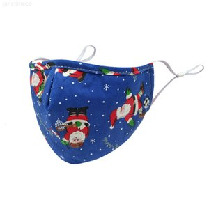 Loops dhl orelha frete lavável festa de Natal máscara respirável face ajustável revestimento mulheres homens outdoor máscaras protetoras kimter-b270f