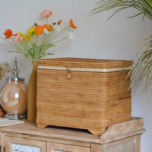 Nordic Vietnam wicker basket woven bedroom miscellaneous clothes storage box living room household large storage basket